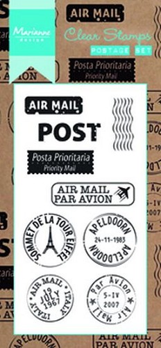 Clearstamps Marianne Design - Poststempel Set