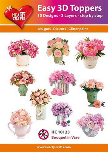 Easy 3D Toppers - Bouquet in Vase