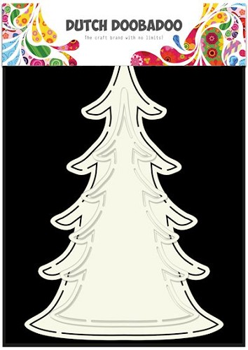 Dutch Doobadoo Stencil - Card Art - Xmas Tree