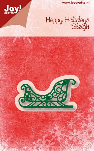 Joy Stencil - Happy Holidays - sleigh