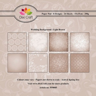 Dixi Craft Paper Pack - Wedding Background - light brown