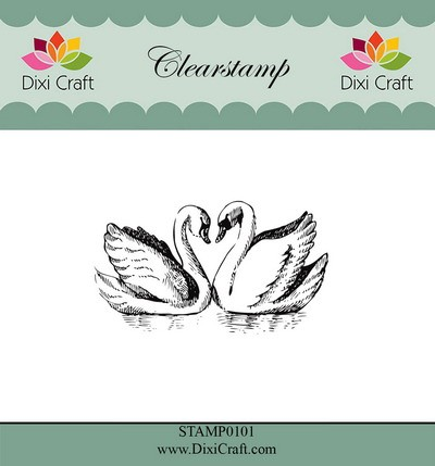 Dixi Craft Clearstamp - zwanen