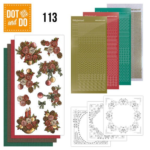 Dot & Do Hobbydots Pakket 113 - Christmas Flowers