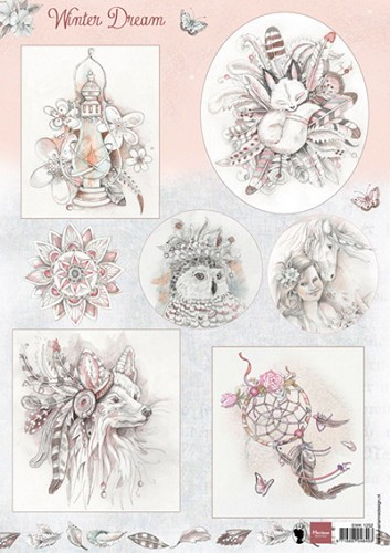 Knipvel Marianne Design - Winter Dream roze