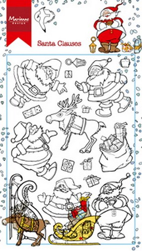 Clearstamps Marianne Design - Hetty`s Kerstmannen