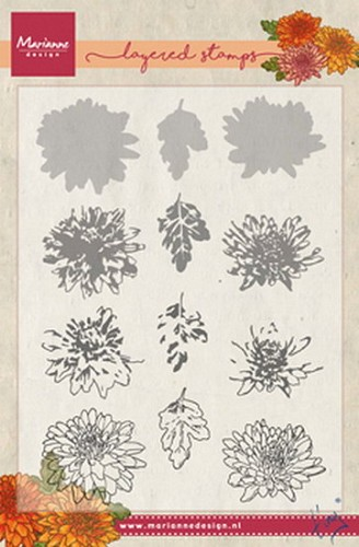 Marianne Design Layered Stamps - Tiny`s Chrysant