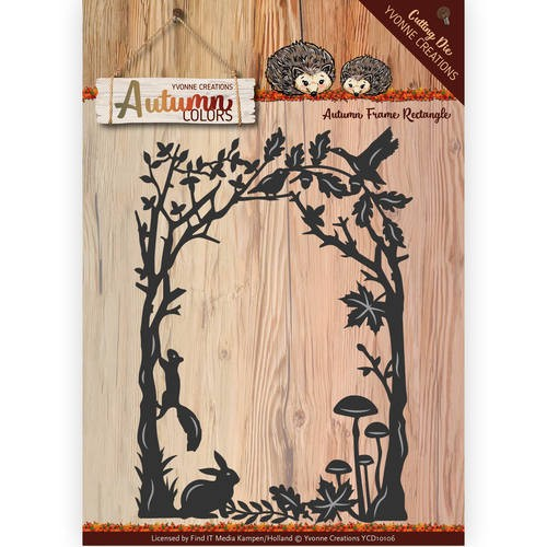 Yvonne Creations Stans - Autumn Colors - frame rectangle