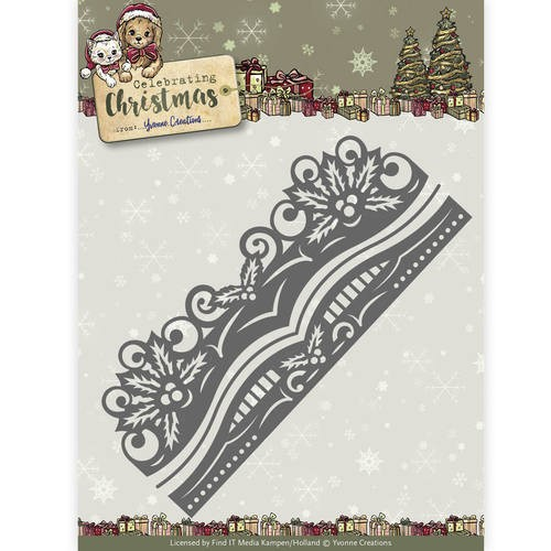 Yvonne Creations Stans - Celebrating Christmas - holly border