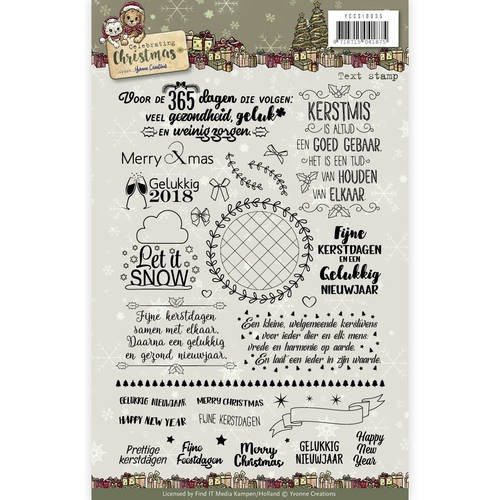 Clearstamps Yvonne Creations - Celebrating Christmas (tekst)