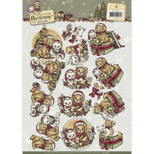 Knipvel Yvonne Creations - Celebrating Christmas CD10956