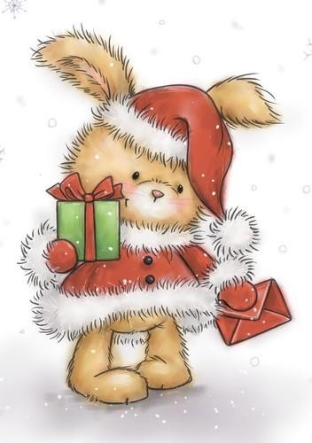 Clearstamp Wild Rose Studio - Christmas Bunny