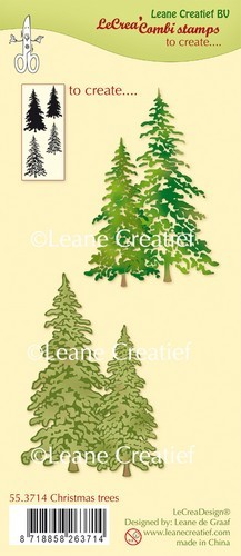 Clearstamps Leane Creatief - christmas trees