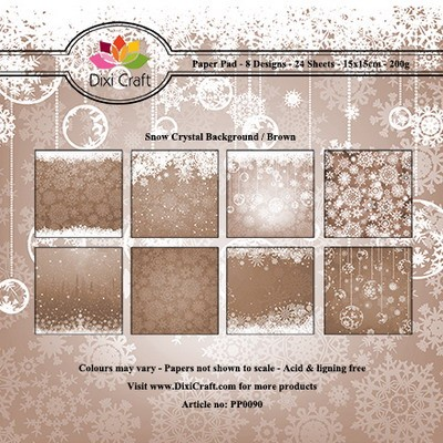 Paper Pad Dixi Craft - Snow Crystal Background - brown