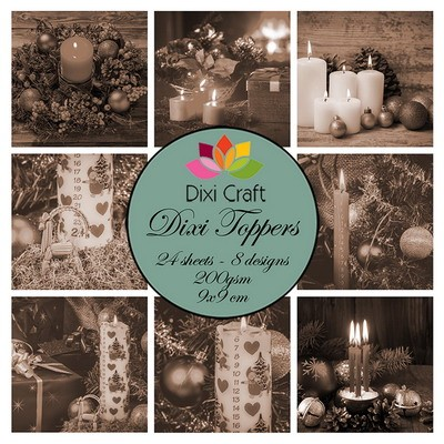Dixi Craft Toppers - christmas candles sepia