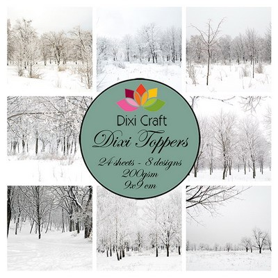 Dixi Craft Toppers - winter landscape