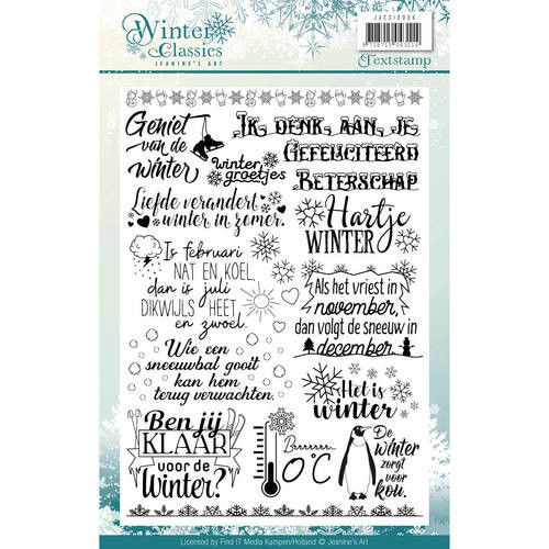 Clearstamps Jeanine`s Art - Winter Classics (tekst)