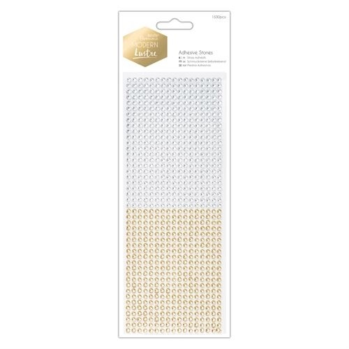Docrafts Papermania Adhesive Stones - gold/silver