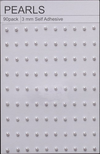 Self Adhesive Pearls 3 mm - wit