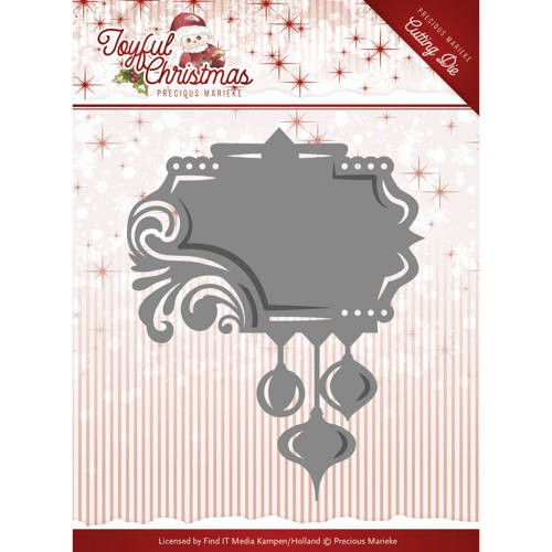 Precious Marieke Stans - Joyful Christmas - label ornament