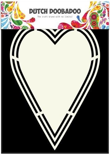 Dutch Doobadoo Card Art - Shape Art - A5 heart tag