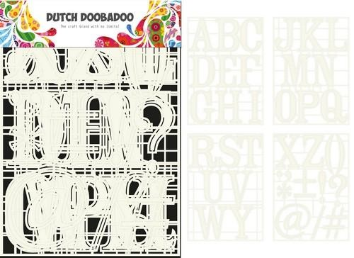 Dutch Doobadoo Stencil Art - A-Z