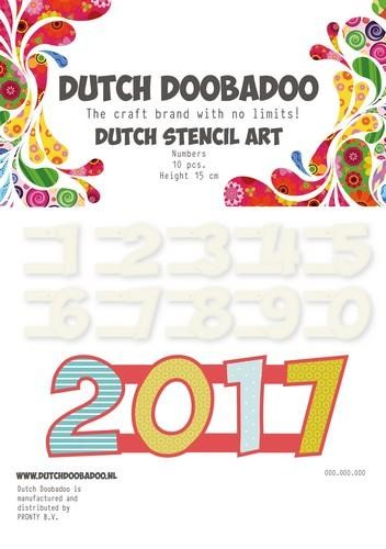Dutch Doobadoo Stencil Art - numbers