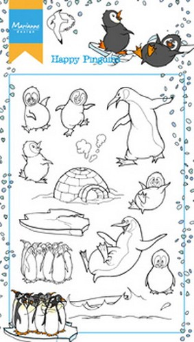 Marianne Design Clearstamps - Hetty`s Happy Pinguins