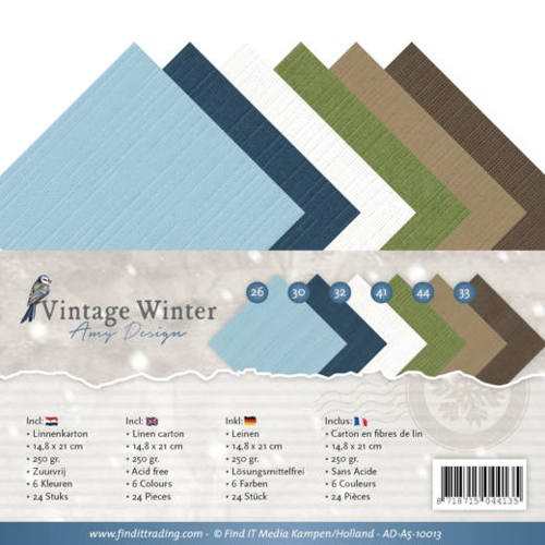 Linnenkarton Amy Design - Vintage Winter (A5)
