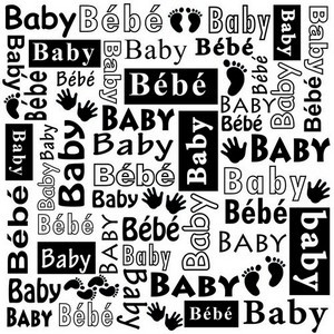 Embossing Folder Nellie Snellen - Text Baby