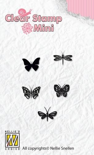 Nellie Snellen Clearstamp Mini - butterflies
