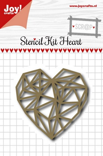 Joy Stencil Kit Heart