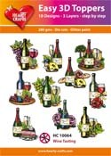 Easy 3D Toppers - wine tasting