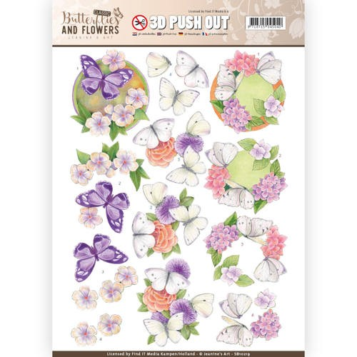 Stansvel Jeanine`s Art - Butterflies and Flowers SB10219