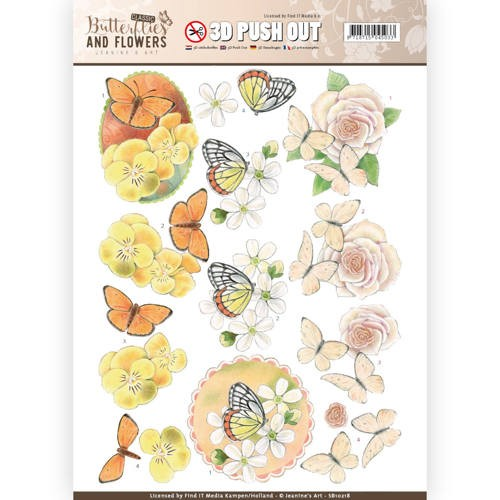 Stansvel Jeanine`s Art - Butterflies and Flowers SB10218