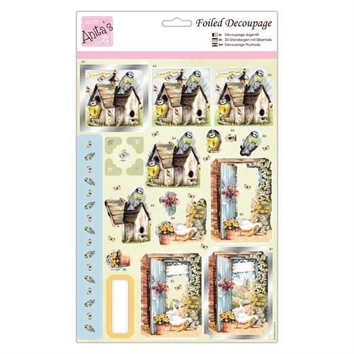 Docrafts Foiled Decoupage Stansvel - move in