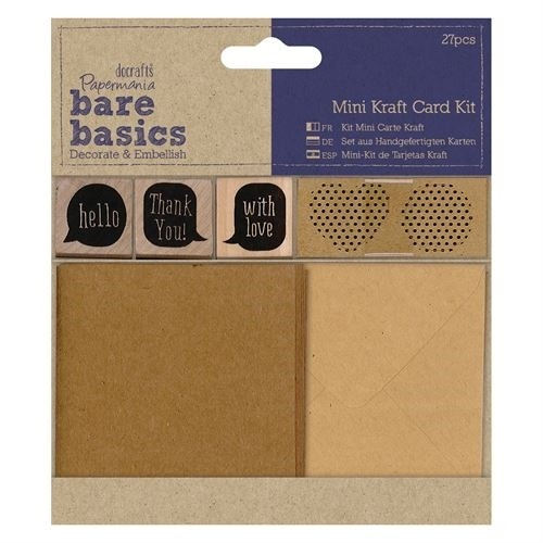 Docrafts Papermania Bare Basics - Mini Kraft Card Kit