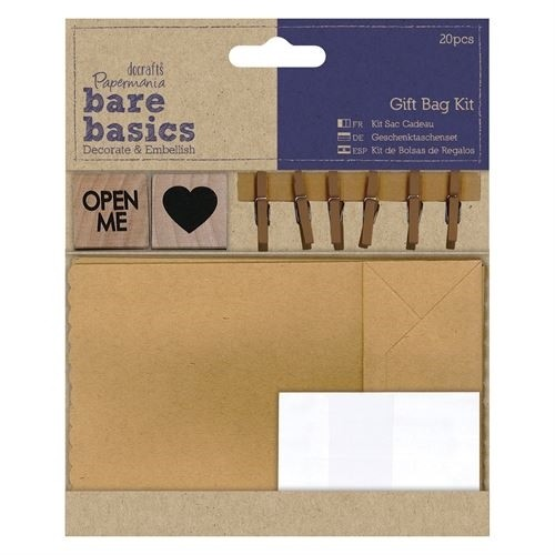 Docrafts Papermania Bare Basics - Gift Bag Kit