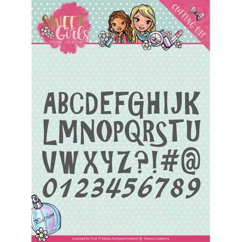Yvonne Creations Stans - Sweet Girls - lovely alphabet