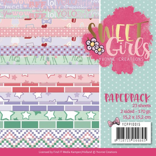Paper Pack Yvonne Creations - Sweet Girls