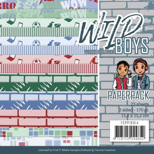 Paper Pack Yvonne Creations - Wild Boys