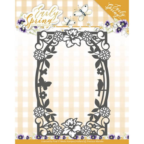Precious Marieke Stans - Early Spring - spring flowers rectangle frame
