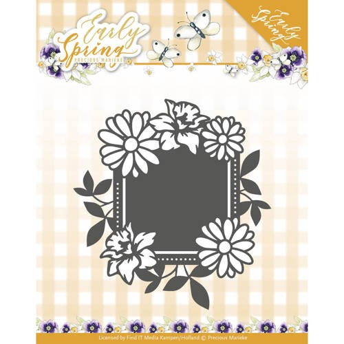 Precious Marieke Stans - Early Spring - spring flowers square label
