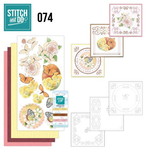 Stitch and Do Pakket - vlinders en bloemen