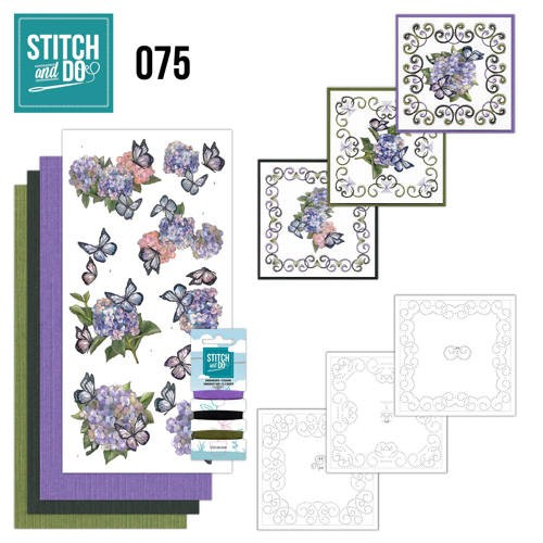 Stitch and Do Pakket - hortensia