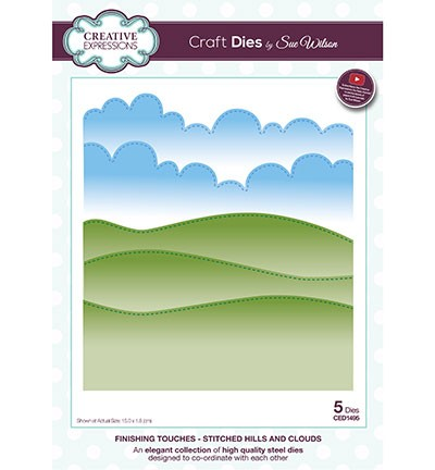 Creative Expressions Stans - Finishing Touches - Stitched Hills and Clouds