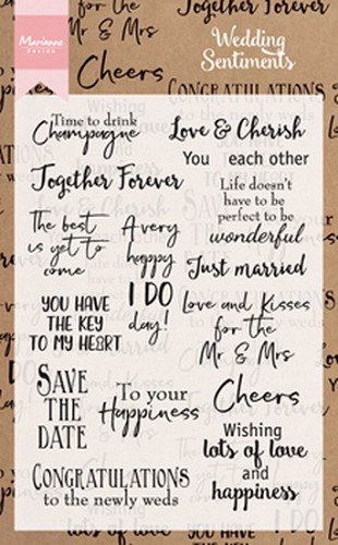 Marianne Design Clearstamps - Wedding Sentiments