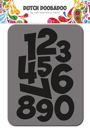 Dutch Doobadoo Foam Stamp - numbers