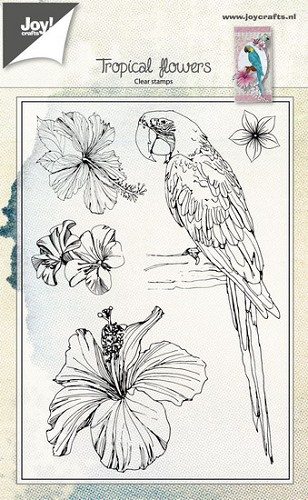 Joy Clearstamps - Tropical Flowers