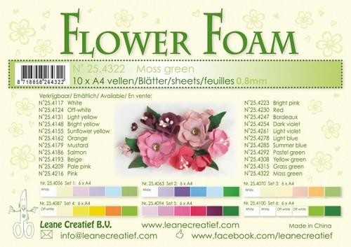 Flower Foam - moss green
