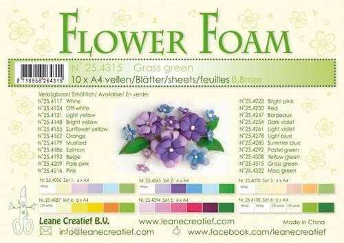 Flower Foam - grass green